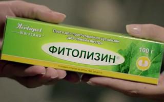 Применение Фитолизина при лечении цистита