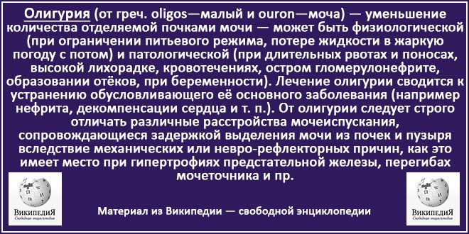 олигурия